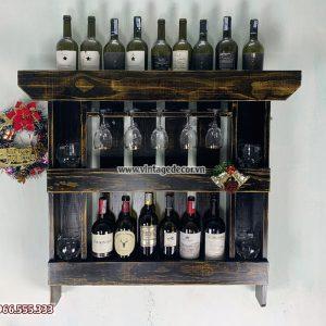 Mẫu kệ rượu trang trí phòng khách đa năng KRTT10