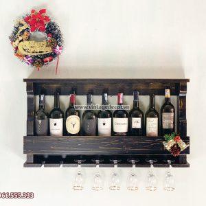 Mẫu kệ rượu vang mini trang trí phòng khách KRTT11