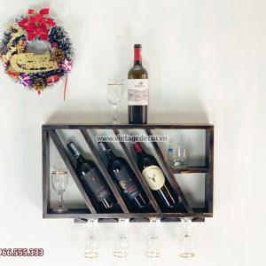 Mẫu kệ rượu vang mini phòng khách đẹp KRTT14