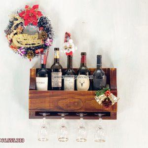Mẫu kệ rượu mini treo tường phòng khách đẹp KRTT16