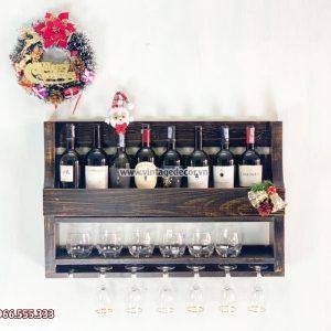 Mẫu kệ rượu vang treo tường phong cách cổ điển đẹp KRTT18
