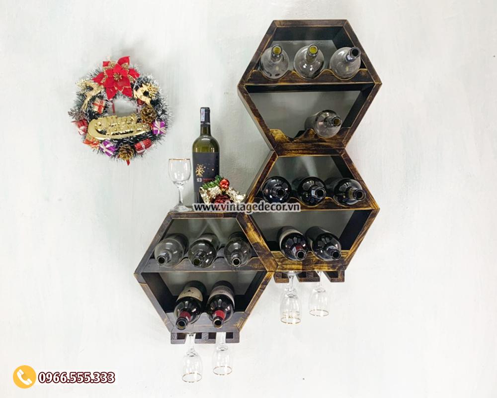 Top 20 mẫu Kệ Rượu Treo Tường trang trí đẹp nhất