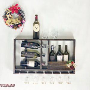 Mẫu kệ rượu vang mini phòng khách KRTT08