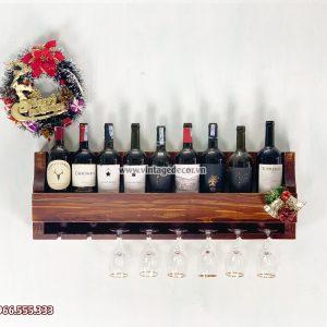 Mẫu kệ rượu gắn tường đẹp KRTT09