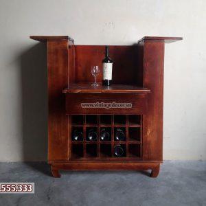 Tủ rượu vang gỗ thông đa năng TRM04