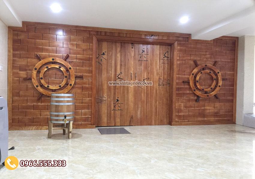 Hầm rượu vang thiết kế theo phòng cách tân cổ điển