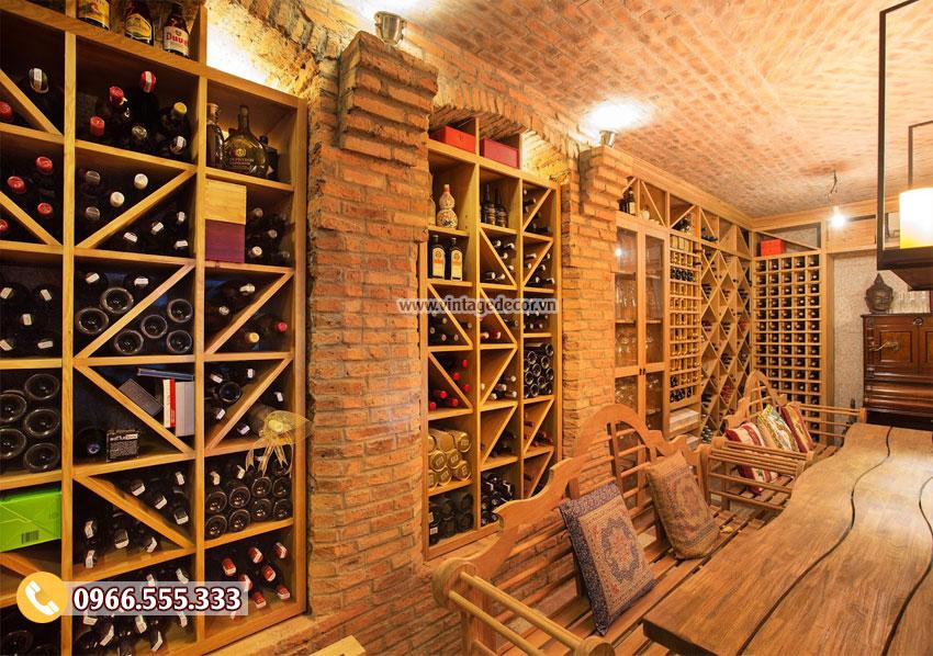 Hầm rượu vang tránh rung lắc tuyệt đối
