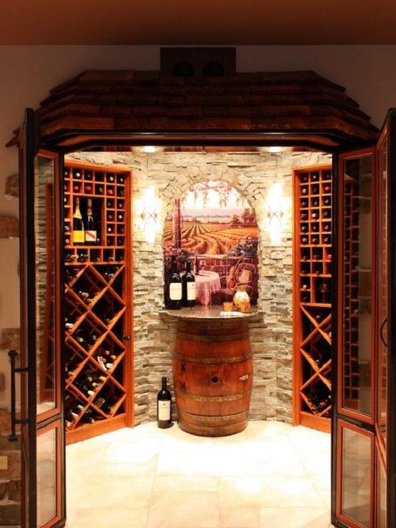 Thiết kế hầm rượu vang sang trọng