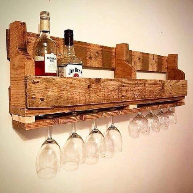 thiết kế kệ rượu theo phong cashc đương đại