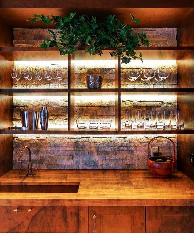 kệ đựng rượu theo phong cách eco