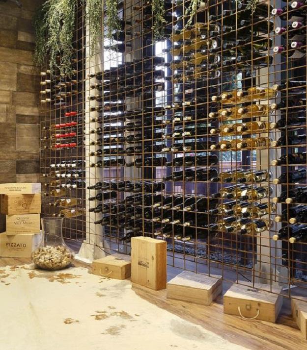 kệ đựng rượu bằng gỗ rustic