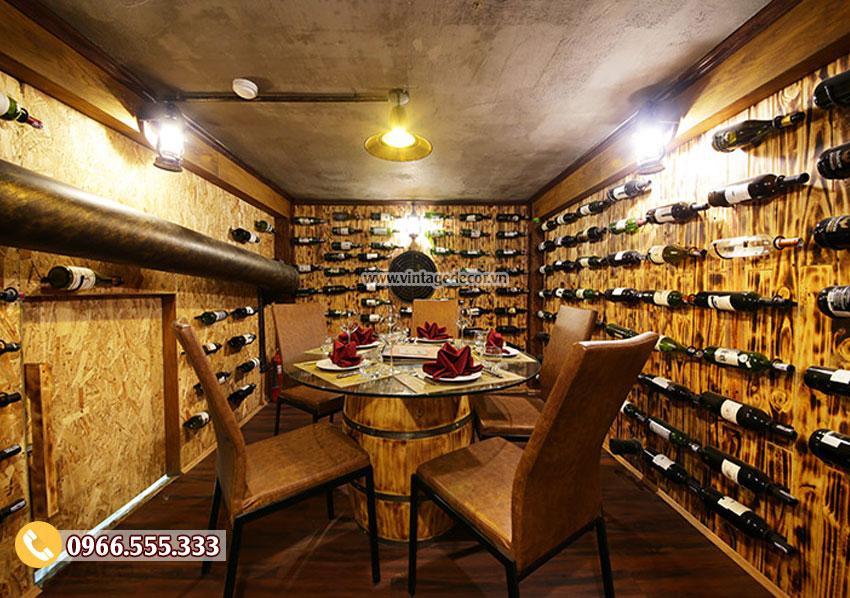 Sàn hầm rượu vang được lựa chọn theo phong cách thiết kế và sở thích của gia chủ