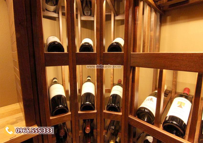 Sắp xếp chai rượu hợp lý sẽ giúp rượu luôn giữ được vị ngon đạt chuẩn