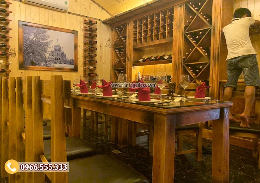 Hầm rượu vang theo phong cách cổ điển ấn tượng