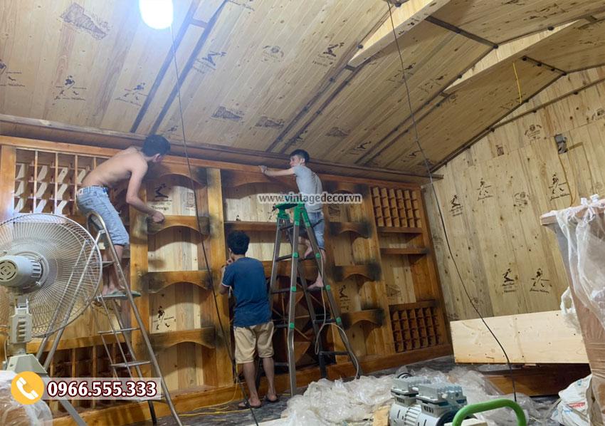 Thi công hầm rượu vang chuyên nghiệp cho gia đình anh Sinh Nghệ An